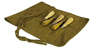 Lie-Nielsen Leather 12 Pocket Leather Carving Tool Roll