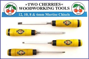 Two Cherries Set of Four Mortise Chisels