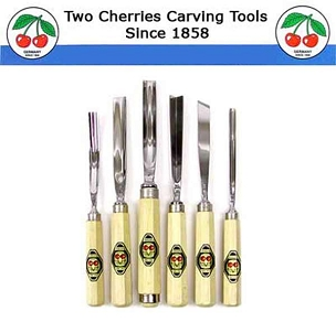 Two Cherries Professional Set/6 Carving Tools